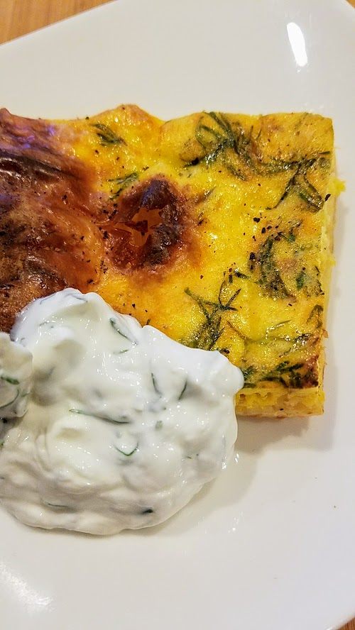 Recipe for Sheet Pan Smoked Salmon and Dill Quiche