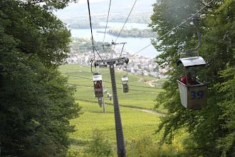 Photo: Udsigt fra svæbane over Rüdesheim og Rhinen