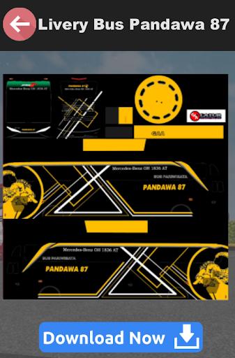 Livery Bussid SHD Pandawa 5.0 screenshots 4