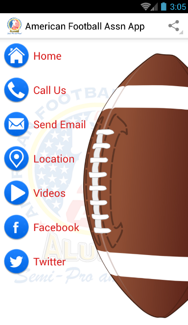American Football Assn App- screenshot