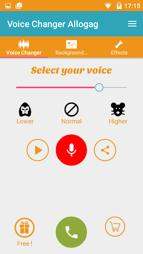Call Voice Changer Allogag - Prank calls 2.7.3 screenshots 1