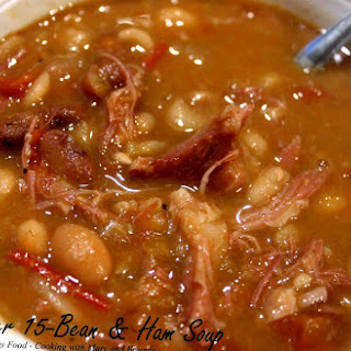 Slow Cooker 15-Bean and Ham Soup