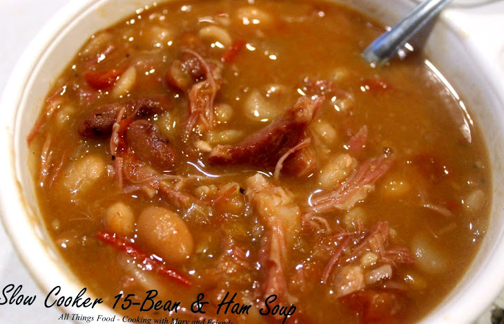 Slow Cooker 15-Bean and Ham Soup Recipe