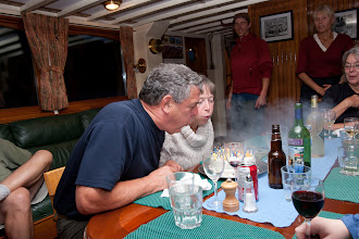 Photo: On board, we celebrate Rick & Carolyn's 42nd anniversary (a few days early).