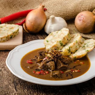 Hearty Hungarian Beef Goulash.