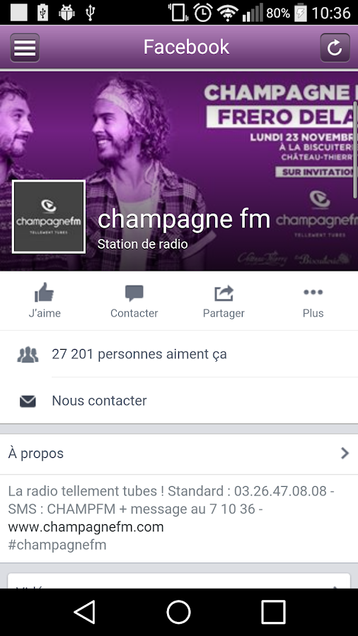 CHAMPAGNE FM Officiel- screenshot