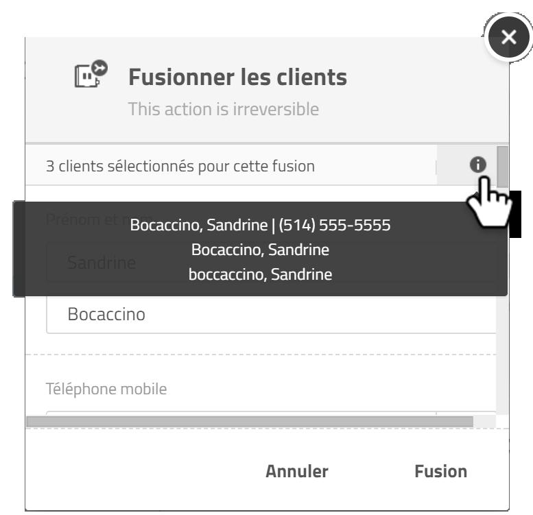 liste clients fusion
