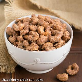 Spicy Sugared Cashews #SundaySupper