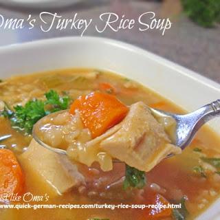 Oma's Turkey Rice Soup Recipe (or Barley)