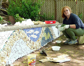 Photo: Actually she shot the pictures because I was so busy and excited about the mosaics project