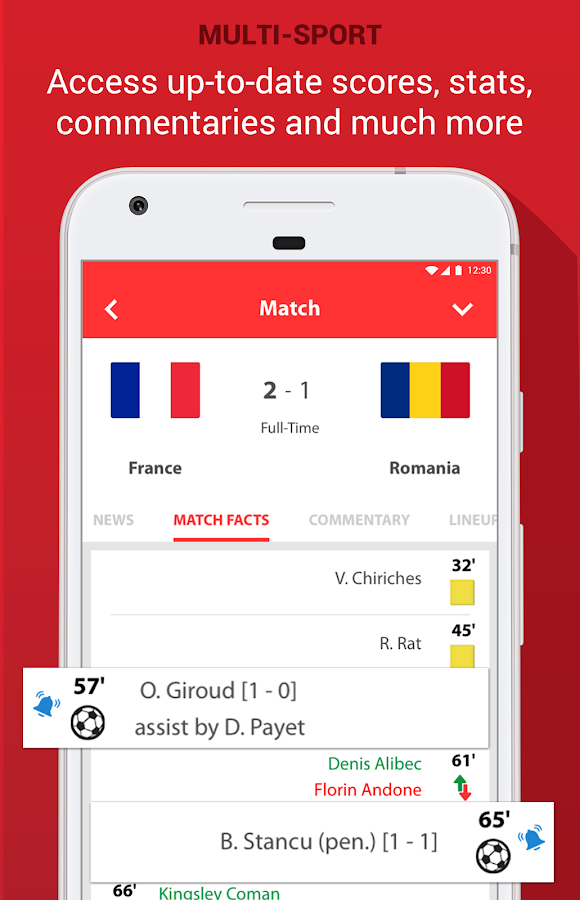 SportOn - Live Scores + Chat- screenshot