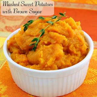 Mashed Sweet Potatoes with Brown Sugar