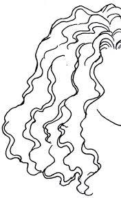 Resultado de imagen de dibujo mujer con cabello ondulado