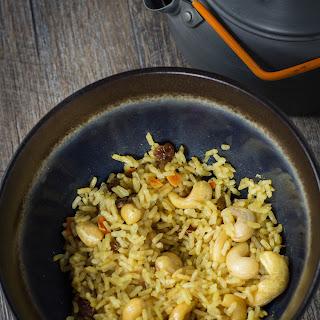 Vegan Backpacking Curry Rice Recipe