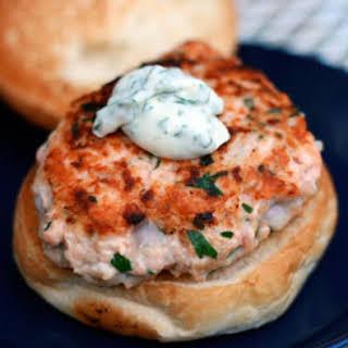 Salmon Burgers.