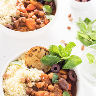 Vegetarian Crock Pot Moroccan Tagine.