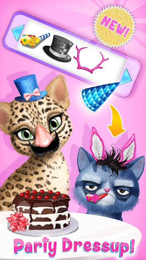 Cat Hair Salon Birthday Party - Virtual Kitty Care 6.0.20 screenshots 6