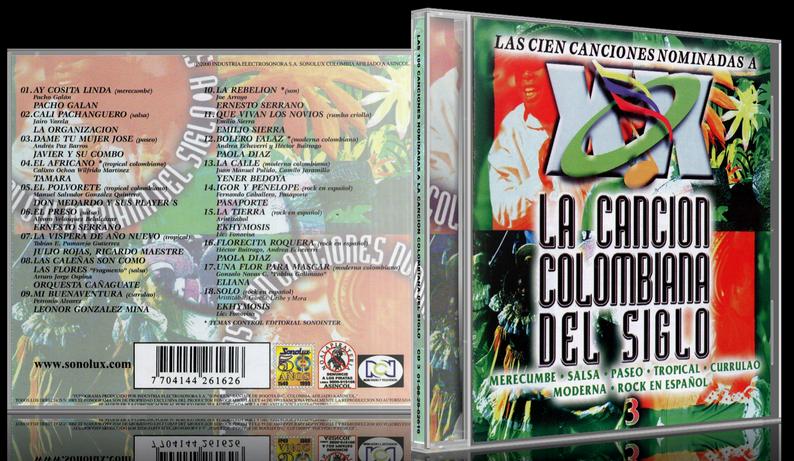 Varios Artistas - Las 100 Canciones Nominadas A La Canción Colombiana Del Siglo CD 3 (2000) [MP3 @320 Kbps]
