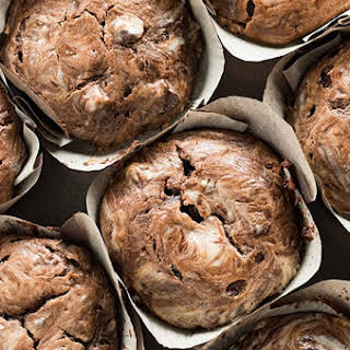 Chocolate Cheesecake Swirl Muffins.