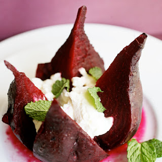 Roast Beets with Ricotta and Mint.