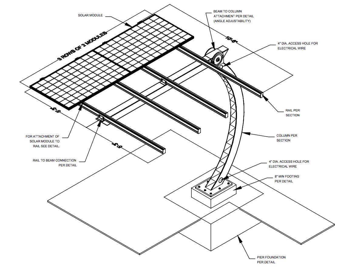 Orion solar carports a solution for every project for Carport detail