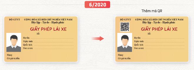 Mẫu giấy phép lái xe mới từ 1-6-2020, bổ sung mã QR