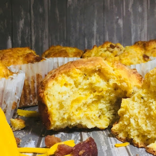 Bacon and Cheddar Muffins.