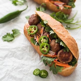 Meatball Bánh Mì Sandwich.