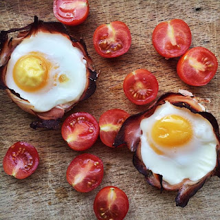 BAKED EGGS IN PARMA HAM EGG CUPS.