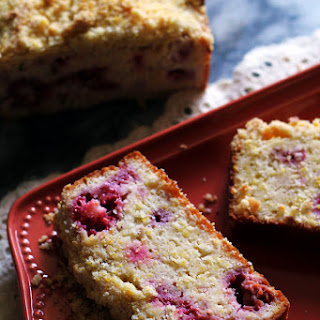 Raspberry Cornbread with Cornbread Crumble