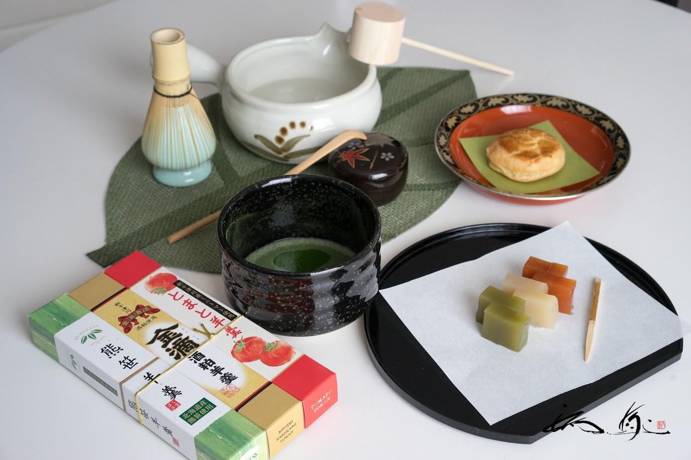 新十津川お土産で、抹茶タイム!