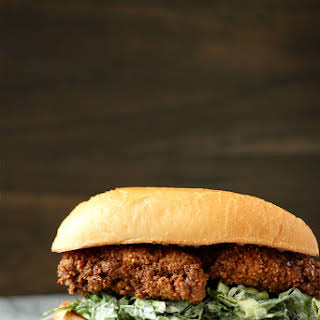 Pecan Fried Chicken Sandwiches with Collard Green Coleslaw.