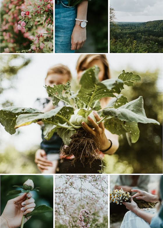 Gardening Collage - Photo Card Template