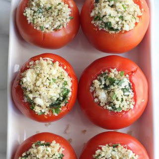 Quinoa and Goat Cheese Stuffed Tomatoes.