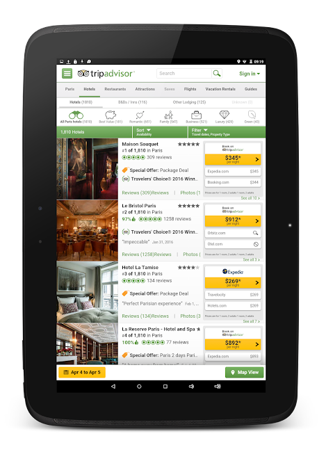#10. TripAdvisor Hotels Restaurants (Android)