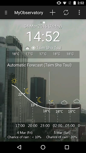 Screenshot for MyObservatory (我的天文台) in Hong Kong Play Store