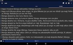 screenshot of Bibilia Takatifu, Swahili Bible