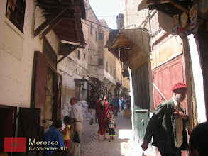 Photo: a common daily scene inside the old medina of Fes