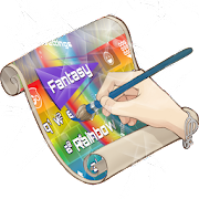Fantasy Rainbow Keyboard Skin