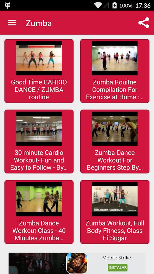 Dance Workout Exercises Screenshot