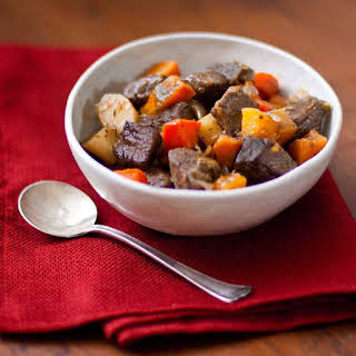 Hearty Beef Stew with Roasted Winter Vegetables.
