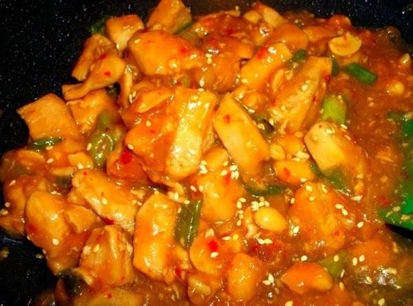 Add the vinegar, Hoisin sauce, brown sugar, soy sauce, chicken and chicken broth to...