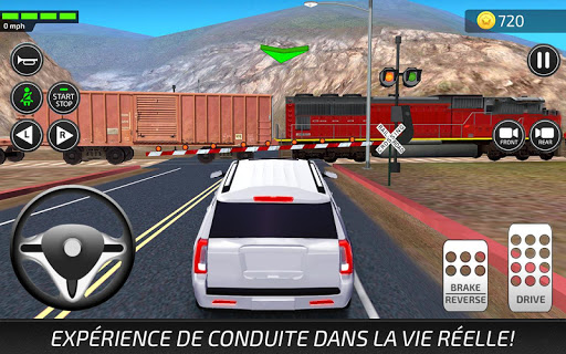 Jeux de Voiture et Conduire: Auto Ecole Simulateur captures d'u00e9cran 1