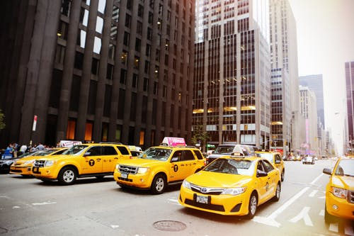 NYC taxi cabs.