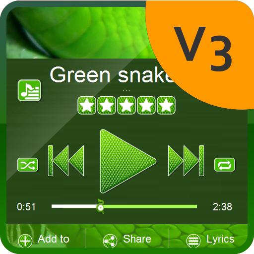 Green snake PlayerPro Skin