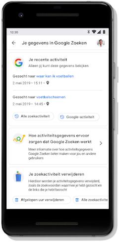 Scherm met Privacycheck voor je Google-account