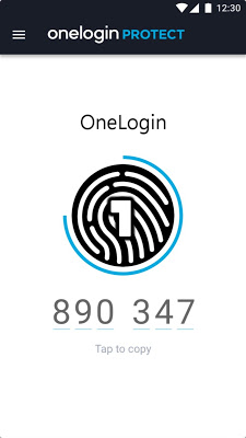 OneLogin Protect - screenshot