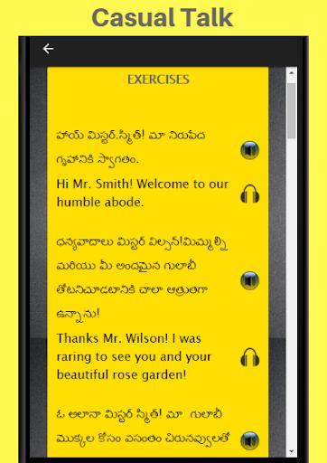 Telugu to English Speaking - English in Telugu 28.0 screenshots 2