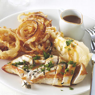 Chicken with Beer Batter Onion Rings