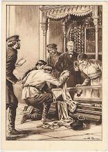 Photo: Profanacja trumny przez bolszewików.